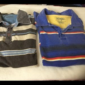 Men's Distressed Short Sleeve Polo Shirts, XL